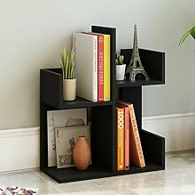 Cdbl-Wand Bücherregal einfacher Desktop Shelf Kreatives Bücherregal Auf dem Tisch Regal Einfacher moderner Schreibtisch Incorporated Kleine Bücherregale Regal ( Farbe : 6* , größe : L48*W21*H70CM )