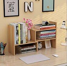 Cdbl-Wand Bücherregal einfacher Desktop Shelf Kreatives Bücherregal Auf dem Tisch Regal Einfacher moderner Schreibtisch Incorporated Kleine Bücherregale Regal ( Farbe : 1* , größe : H46.5*W17CM )