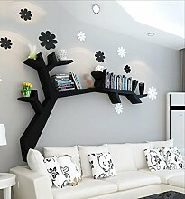 Cdbl-Wand Bücherregal Kreative Baumregale, Wandregale, Wohnzimmer Wand hängen, Bücher Bücherregale, Gitter Display Stand Regal ( Farbe : 2 , größe : L120*H90CM )