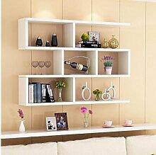 Cdbl-Wand Bücherregal Weinregal / Wandregal / Wandwandrahmen / moderne einfache hängende Schrankwandschrankregale Regal ( Farbe : 4* , größe : L100*w15*h80cm )