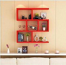 Cdbl-Wand Bücherregal Weinregal / Wandregal / Wandwandrahmen / moderne einfache hängende Schrankwandschrankregale Regal ( Farbe : 3* , größe : L80*w15*h80cm )