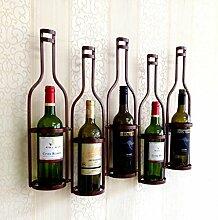CDBL Weinregal Wandbehang Weinglas Halter hängen Weinregal Wein schmiedeeisernen Weinregal Stemware Racks (Farbe : Braun)