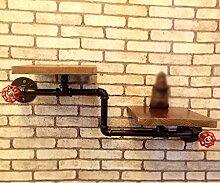 Cdblchandelier LOFT Retro Buchregale Industrielle Wasserrohrregale Regal ( Farbe : 4# )