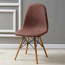 Cdblchandelier Stuhl Tuch Stuhl Stuhl Rüstung Stuhl Hocker Einfache Europäische Massivholz Stuhl Persönlichkeit Casual Esstisch Sessel Stuhl Klappstuhl ( Farbe : 4# )