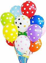 Cdet 12 Pcs Party Ballon Zufällige Farbe Tupfen Hochzeit / Geburtstag / Karneval / Party / Feier Dekoration Zubehör Spielzeug