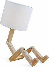 Cdet 1X Leselampe im Holz-Design Roboter