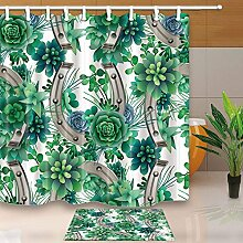 CDHBH Creative Art Grün Pflanzen Hufeisen