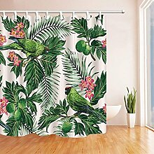 CDHBH Grün Pflanzen Duschvorhänge Exotic
