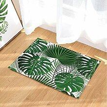 cdhbh, Grün, tropische Pflanzen Decor,/Monstera-Teppich, rutschfeste Fußmatte, Türmatte, Eingangsmatte für den Innenbereich, für Kinder-, 15,7x 23.6in Badezimmer-Zubehör