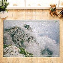 cdhbh Nature Scenery Decor High Mountain mit Weiß