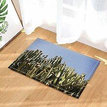 cdhbh Pflanze Decor Kaktus mit Blumen Bad Teppiche