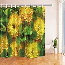 CDHBH Pflanzen Gelb Blume mit Blätter Vorhang