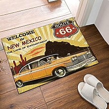 cdhbh Route 66 Decor Auto Türvorleger zu New