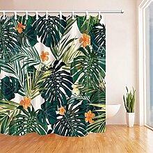 CDHBH Tropischen Pflanzen Palm Blätter mit Blumen