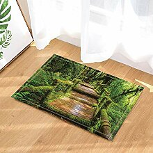 cdhbh tropischen Regenwald Decor Holz Brücke Full