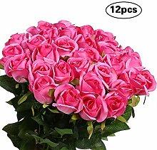 CDK 12st künstliche Rose Blumen-Blumenstrauß