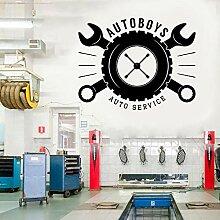 CDNY Auto Jungen Auto Service Wandaufkleber Vinyl