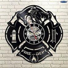 CDNY Feuerwehr Wanduhr Patch Abzeichen Design