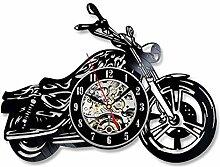 CDNY Motorradförmige Wanduhr mit leuchtendem