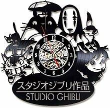CDNY Studio Wanduhr Vinyl Schallplatte Uhr Cartoon