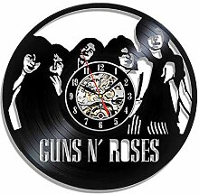 CDNY Vinylplatte Wanduhr Musik Thema Aufkleber