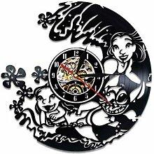 CDNY Wanduhr Cartoon Aufkleber Schallplatte Uhr