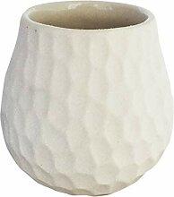 Cebador Mate Becher Keramik Weiß leicht zu