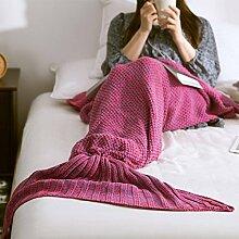 CEBEGO Kuscheldecke lila Meerjungfrau mit Ansteckbutton I MISS YOU, Wohndecke Tagesdecke Geschenkidee Verliebte