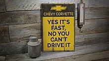 Ced454sy Chevy Corvette Schild Corvette Park