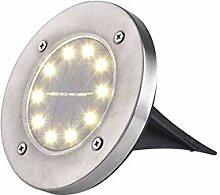 cedarfiny Solar Bodenleuchten, 10 LED Aussen