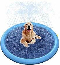 cedarfiny Splash Pad,Sprinkler Play Matte, Pet
