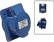CEE Einbausteckdose 230V - 16A 3 polig mit Spritzwasserschutz