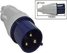 CEE Stecker 3-polig 32 A - 230 V Spritzwasser geschütz