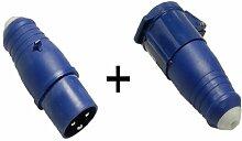 CEE Stecker und CEE Kupplung 3-polig 16 A 230V