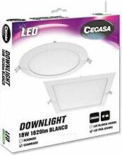 cegasa LED-Einbaustrahler, quadratisch, BLAN 18 W,