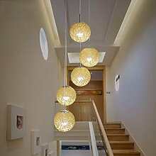 Ceiling ceremonStaircase lange Lampe Rattan Lounge