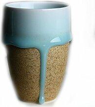 Celadon Glasuren Flussblumenbecher, Keramikbecher,Yellow