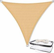 CelinaSun 0010470 Sonnensegel Sonnenschutz Garten | UV Schutz wetterbeständig HDPE atmungsaktiv | Dreieck 3 x 3 x 3 m sand-beige