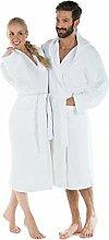 CelinaTex Montana Bademantel mit Kapuze L weiß