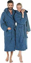 CelinaTex Montana Bademantel mit Kapuze XL blau