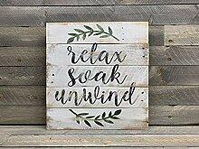 CELYCASY Cellycasy Holzschild, Relax Soak Unwind -