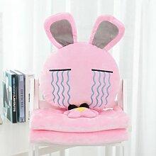 Cengbao Kreative 3-in eine Wolldecke glückliche Kaninchen office lumbalen Kaninchen Kissen Kissen Kissen, rosa Farbe Tränen, sehen Sie sich die Details an