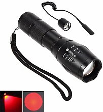 CentBest LED-Taschenlampe Rot Strahl Cree Zoom