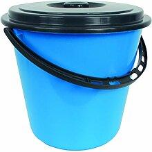 Centi Eimer Wassereimer mit Deckel 10 Liter (blau)