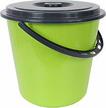 Centi Eimer Wassereimer mit Deckel 10 Liter (grün)