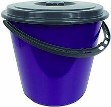 Centi Eimer Wassereimer mit Deckel 10 Liter (lila)