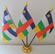 Central African Republic Flag Afrika 3 Table