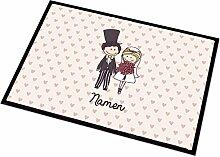Cera & Toys Fußmatte zur Hochzeit mit Brautpaar