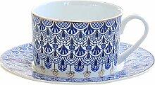 Ceramic 300ml Exquisite Kaffeetasse und Saucer