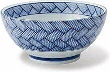 Ceramic 6.5/7.5 Zoll blau und weiß